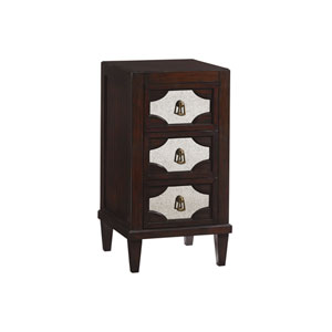 Kensington Place Brown Lucerne Mirrored Nightstand