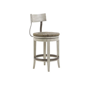 Oyster Bay White Merrick Swivel Counter Stool