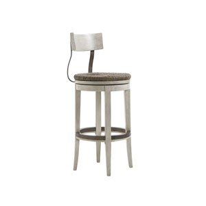 Oyster Bay White Merrick Swivel Bar Stool