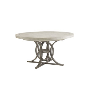 Oyster Bay White Calerton Round Dining Table
