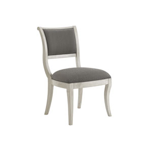 Oyster Bay White and Gray Eastport Side Chair