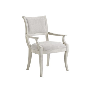 Oyster Bay White Eastport Dining Arm Chair