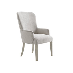 Oyster Bay White Baxter Dining Upholstered Arm Chair