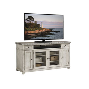 Oyster Bay White Shadow Valley Media Console