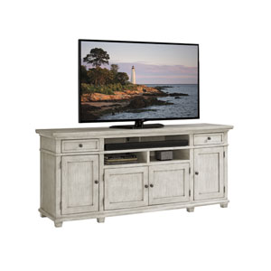 Oyster Bay White Kings Point Large Media Console