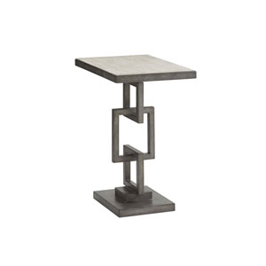 Oyster Bay White and Gray Deerwood Rectangular Side Table