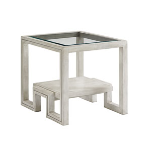 Oyster Bay White Harper End Table
