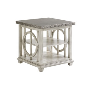 Oyster Bay White Lewiston Square Lamp Table