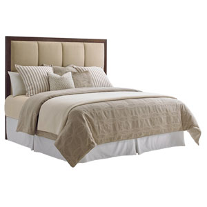 Laurel Canyon Brown and Beige Case Del Mar Upholstered California King Headboard