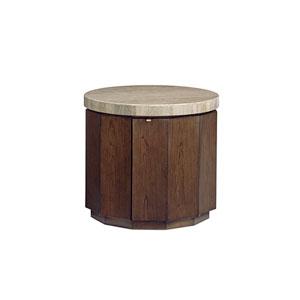 Laurel Canyon Brown Glendora Drum Table