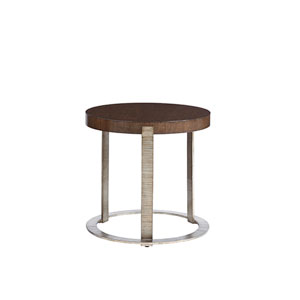 Laurel Canyon Brown Wetherly Accent Table