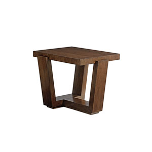 Laurel Canyon Brown Esplanade End Table