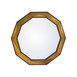 Take Five Brown Savoy Round Mirror