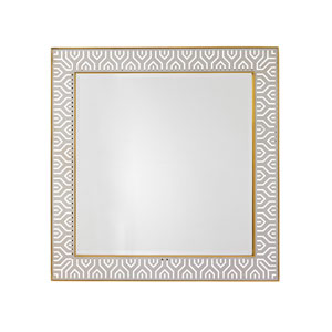 Take Five White Tribeca Square Mirror