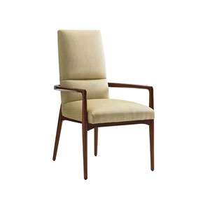 Take Five Gold Chelsea Dining Upholstered Arm Chair