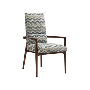 Take Five Gray Chelsea Upholstered Arm Chair