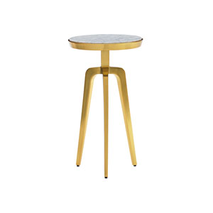 Take Five Gold Interlude Accent Table