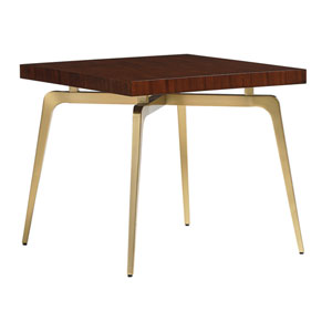 Take Five Gold and Brown Allegro Square Lamp Table
