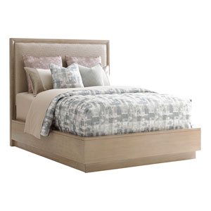 Shadow Play Beige and Gray Uptown Queen Platform Bed