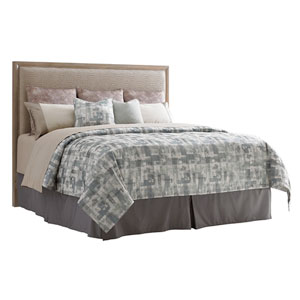 Shadow Play Beige and Gray Uptown King Panel Headboard