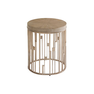 Shadow Play Brown Studio Round Accent Table
