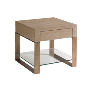 Shadow Play Brown Empire Square End Table
