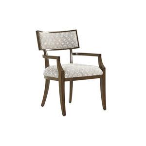 Macarthur Park Gray and Walnut Whittier Dining Arm Chair