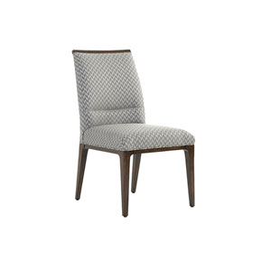 Macarthur Park Gray and Brown Collina Upholstered Side Chair