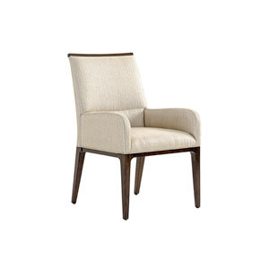 Macarthur Park Beige and Brown Collina Upholstered Arm Chair