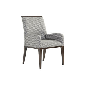 Macarthur Park Gray and Brown Collina Upholstered Arm Chair