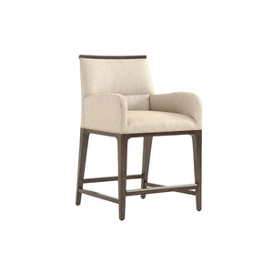 Macarthur Park Beige and Brown Getty Counter Stool