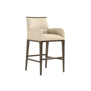 Macarthur Park Beige and Brown Getty Bar Stool