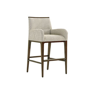 Macarthur Park Gray and Brown Getty Bar Stool
