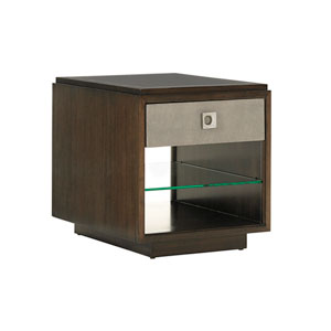 Macarthur Park Brown Chenault Storage End Table
