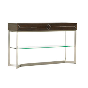 Macarthur Park Silver and Walnut Loring Console