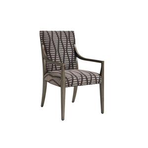 Ariana Brown Saverne Upholstered Dining Arm Chair