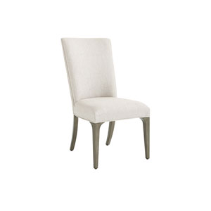 Ariana Silver Leaf Bellamy Upholstered Side Chair