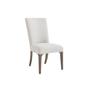 Ariana Silver and Gray Bellamy Upholstered Side Chair