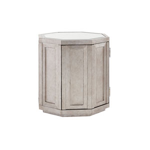 Ariana Silver Rochelle Octagonal Storage Table