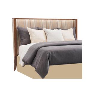 Kitano Brown Stripes Mirah Upholstered California King Headboard