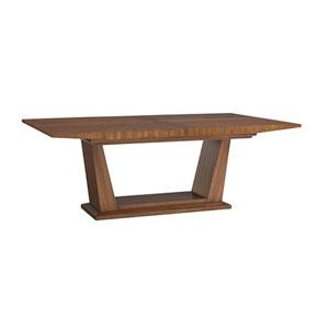 Kitano Brown Caldera Rectangular Dining Table