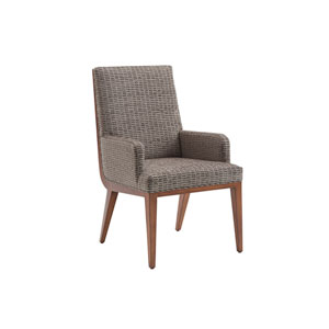 Kitano Gray Marino Upholstered Dining Arm Chair