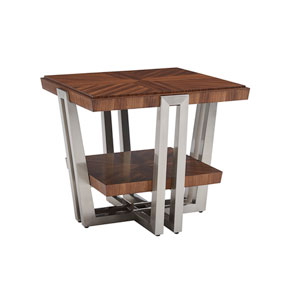 Kitano Brown Gianni Square End Table