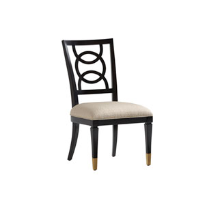 Carlyle Black and Beige Pierce Upholstered Side Chair
