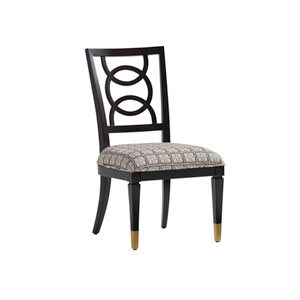 Carlyle Black, Brown and Cream Pierce Upholstered Side Chair