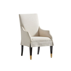 Carlyle White Monarch Upholstered Dining Arm Chair