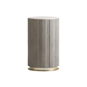 Carlyle Gray Chelsea Taupe Shagreen Accent Table