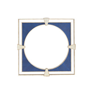 Carlyle Blue Adour Shagreen Square Mirror