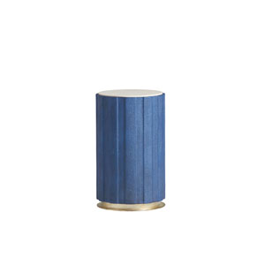 Carlyle Blue Chelsea Cobalt Shagreen Accent Table