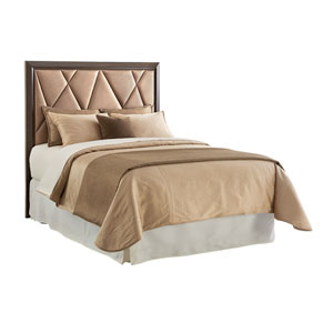 Zavala Brown Spectrum Upholstered Queen Headboard